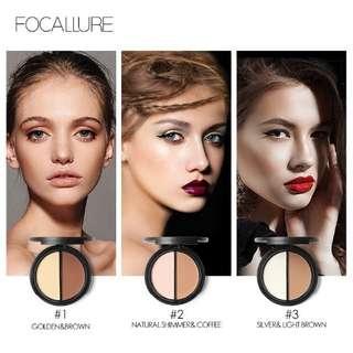 Focallure contour and shimmer bronzer highlighter powder