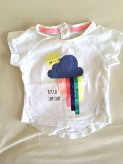 Mothercare top baby hello sunshine