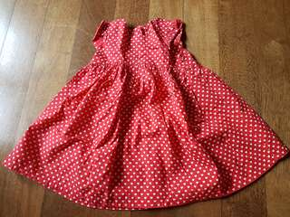 Red Love dress (Mothercare)
