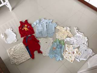 [Preloved] (0-6M) Baby Boy Clothings In Bundle