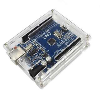 Arduino Uno R3 Development Board, USB Cable &  Acrylic Case