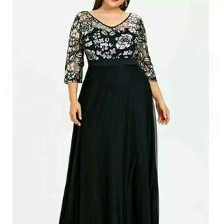 Plus size party wear gown
