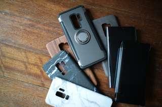 Samsung S9+ bundle (7 cases)