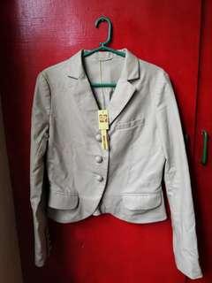 Ju's Leather Blazer for Corporate Attire