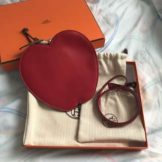Hermes Tutti Frutti Large Limited Edition Red Apple Clutch