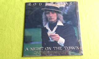 ROD STEWART . a night on the town. Vinyl record