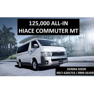 Toyota Hiace Commuter for 125,000 All-in Cash out