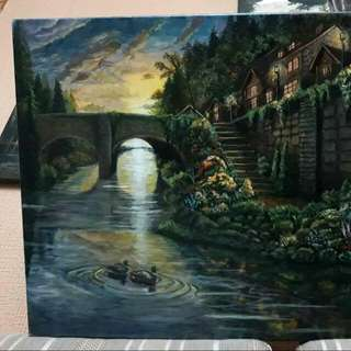 "Canvas (Acrylic) ""The Outskirts Bridge"""