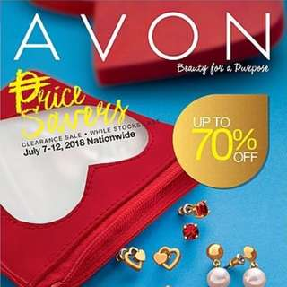 AVON CLEARANCE SALE JULY 7-12, 2018 ONLY!