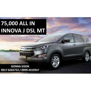 Toyota Innova J for 75,000 All-in Cash out