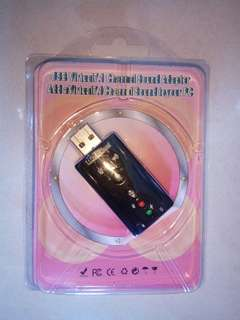 USB to audio adaptor