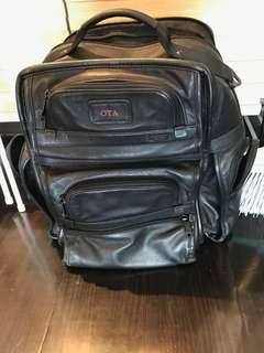 Tumi leather back pack style Alpha 2
