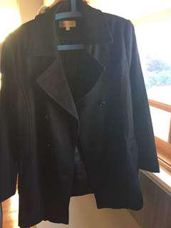 BRAND NEW Double breasted black pea coat