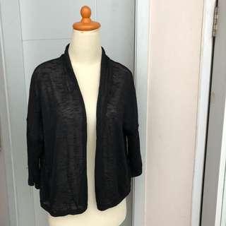 H&M Cardigan hitam knit outerwear black