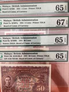Malaya cents set