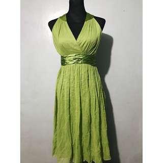 Green Maxi Dress Gown Medium