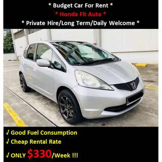 Budget Car Rental - Honda Fit Auto For Rent - Daily / Private Hire Welcome