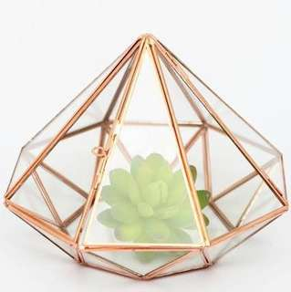 [Sellabrations] Diamond Shape Gold Terrarium Ring Holder