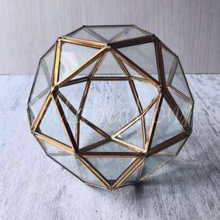 [Sellabrations] Globe Ball Shape Gold Geometric Terrarium Ring Holder
