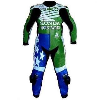Honda motorcycle Leather Racing Suit