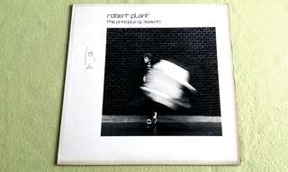 ROBERT PLANT (Lead vocalist of Led Zeppelin)  the principle of moments. Vinyl record