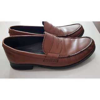 Clarks Holmby Step Mens Loafers Brown Leather UK7
