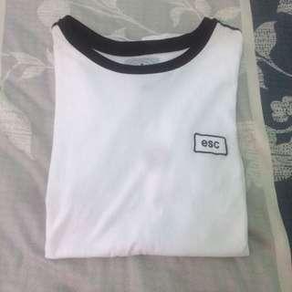 TOPSHOP ESC Ringer T-Shirt