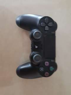 Black PS4 controller