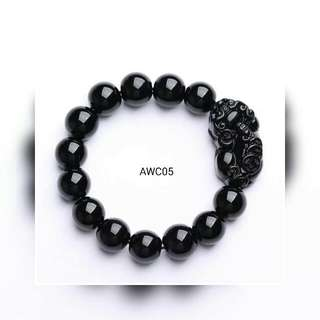 Obsidian Pixiu Bracelet