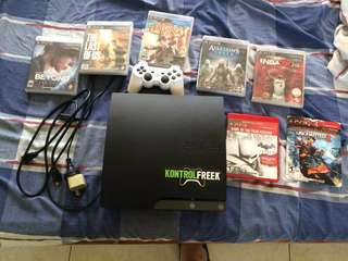 PS3 console with games (one package)