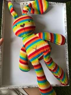 Colourful / rainbow bunny