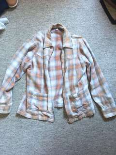 Casual flannel jacket