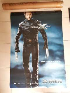 X-Men Promotional Character Poster The Last Stand 2006 - A true Marvel Legend not DC