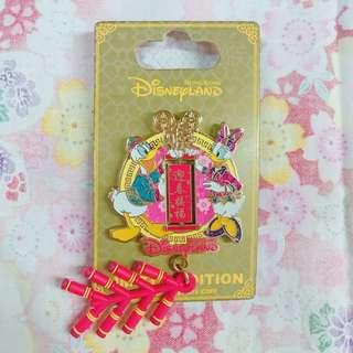 迪士尼襟章 2016 農曆新年 唐老鴨 黛絲 Donald Daisy Disney Pin LE500