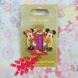 迪士尼襟章 2016 農曆新年 米奇 米妮 Mickey Minnie Disney Pin LE500