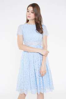 🚚 Intoxiquette Eulyn Lace Dress in Baby Blue