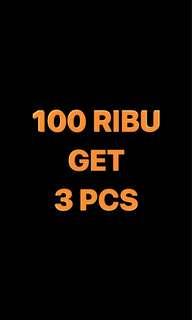 100 rb get 3 pcs (geser foto)