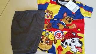 Paw patrol t shirt + shorts