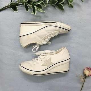 Sneaker wedges - white