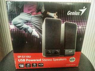 USB Powered Stereo Speakers (Genius SP-S110U)