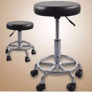 Rolling Stool with Leg Rest