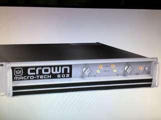 Crown Macro Tech 602 power amp