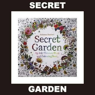 Secret Garden 秘密花園 填色 顏色 顏料 水彩 木顏色 色鉛筆 韓國