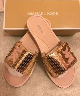 Michael Kors Slide Lasered Mirror Metallic Rose Gold