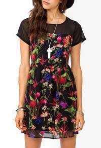 NEW F21 Floral Print Dress 碎花連身裙
