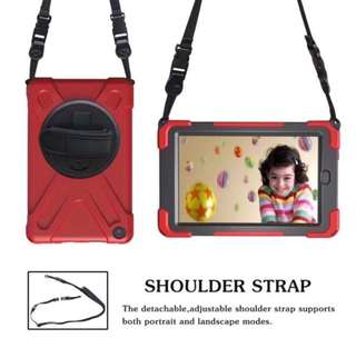 iPad 2018 Shockproof Case with Sling and Strap