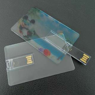 transparent usb  card flash drive for corporate giveaways