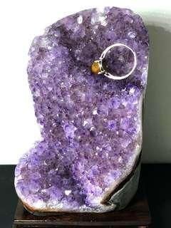 Lavender Amethyst Crystal slab 薰衣草紫晶镇 1140g