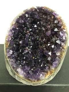 Rare dark Amethyst Geode crystals 内凹紫晶镇 1181g