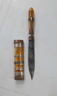 Thai Verses Ivory Pocket Knife